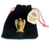 Kép 4/8 - A kristály angyalok bársony tároló zsákkal együtt érkeznek.