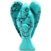 Kép 6/8 - Türkiz kőből készült kis angyal szobrocska.