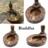 Kép 5/12 - Buddha mintával dekorált lefelé áramló füsthöz füstölő állvány.