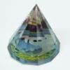 Kép 7/9 - Jin és Jang mintájú 12 oldalú piramis. Misztikus dekorációnak is kiváló.