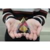 Kép 4/9 - kb. 6 cm magas üvegpiramisok
