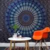 Kép 3/4 - nagy méretű mandala fali függő, pamut tapéta