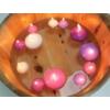 Kép 4/5 - dekoráció különböző méretű úszógyertyákkal