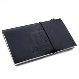 bőr napló, egyedi notesz