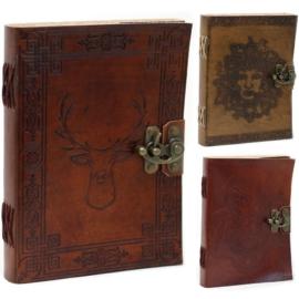 Vintage bőrnotesz, egyedi napló - Mitikus Lények design