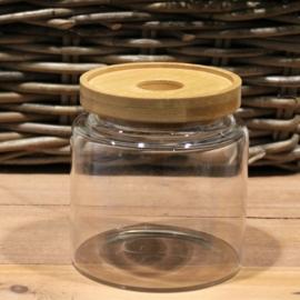 üveg tároló bambusz fedővel