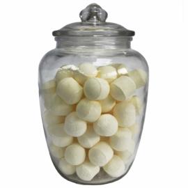 klasszikus gömbölyített üveg tárolóedény
