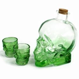 különleges koponya alakú italos készlet
