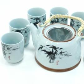 7 részes teáskészlet különböző mintákkal