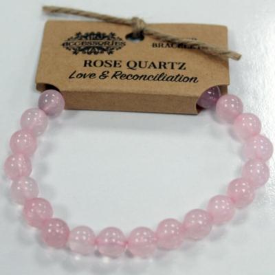szerelem karkötő - rózsakvarc kristályból