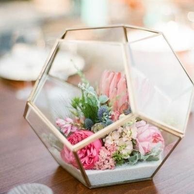 nagy gömb alakú florárium dekorüveg