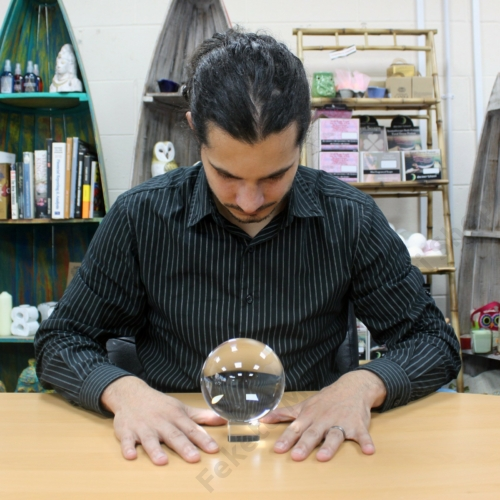 boszorkányos kristály gömb, 13 cm-es