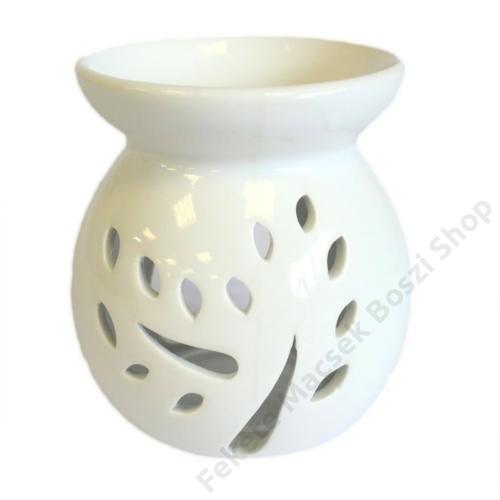 fehér kerámia aromalámpa