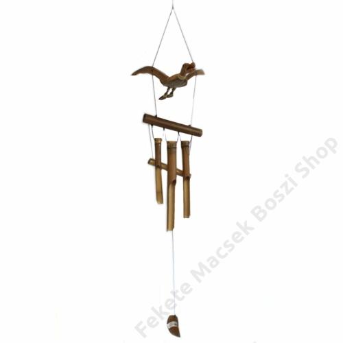 Madárkás Szélcsengő, strapabíró bambuszból és kókuszból