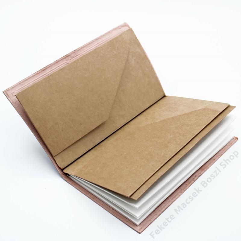 Újrahasznosított papírból készült bőr jegyzetfüzet