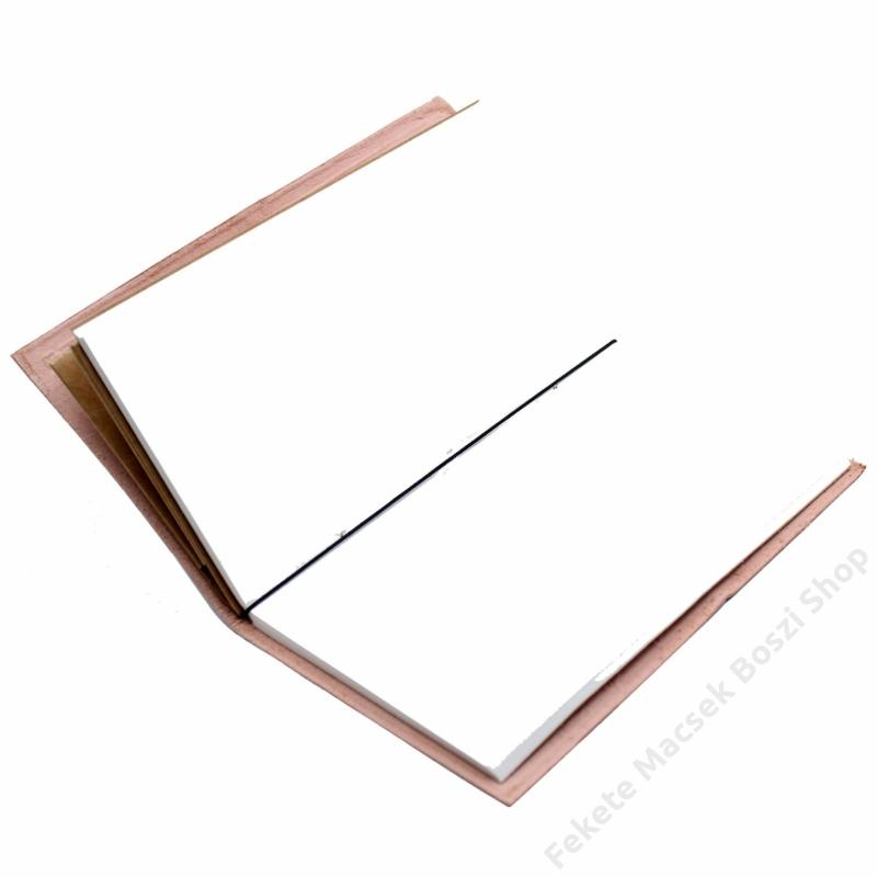 Egyedi bőrkötéses notesz, 80 oldalas jegyzetfüzet.