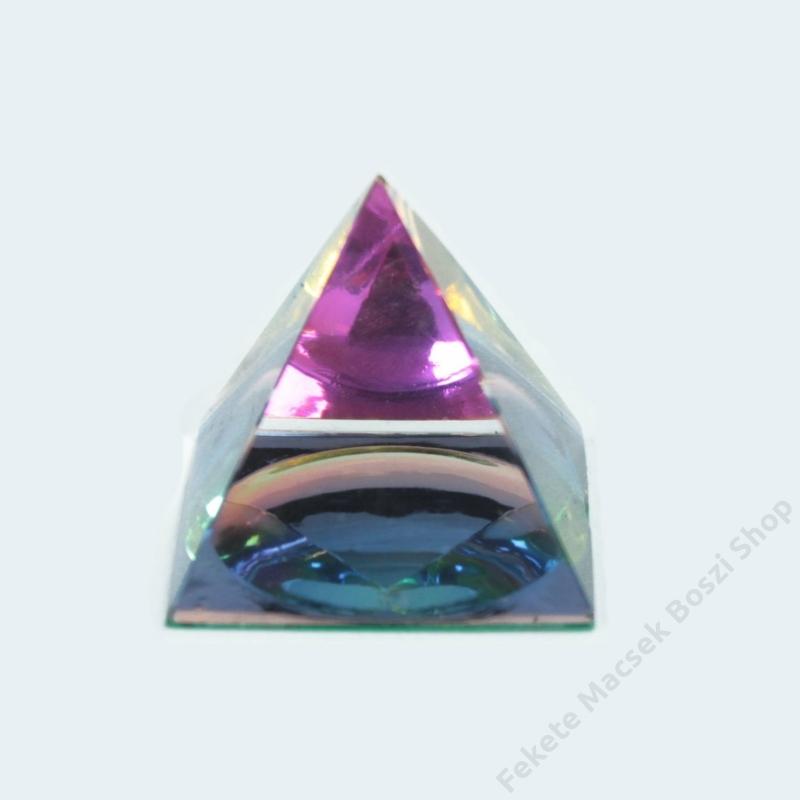Színes 4 oldalú kristály piramis