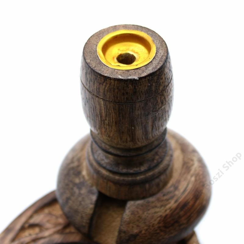 Speciális kialakítású füstölő állvány lefelé áramló füstölőkúpokhoz.
