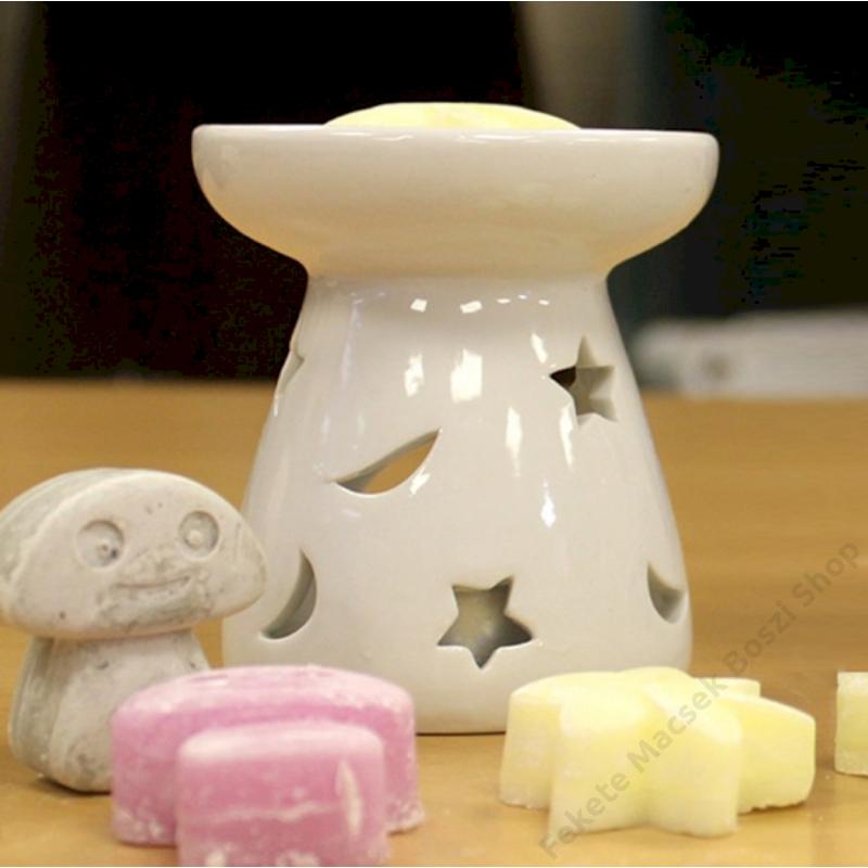 fehér kerámia aromalámpa ideális illatviaszokhoz