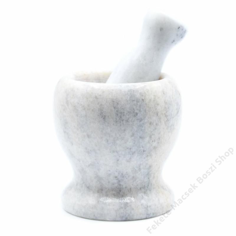 letisztult formavilágú márvány mozsár