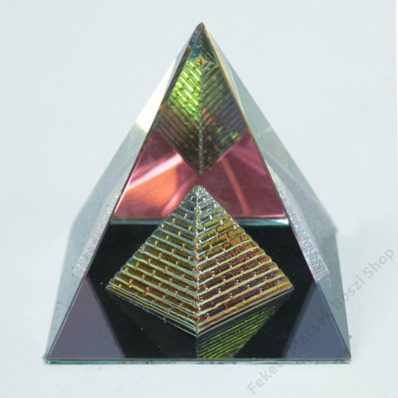 Dupla piramis változat. A kristálypiramisok használhatóak egyedi nehezékként is.