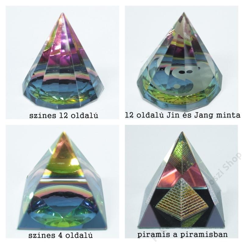 4 féle kristálypiramis közül választhatsz