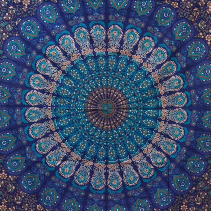 kék mandala lakástextil