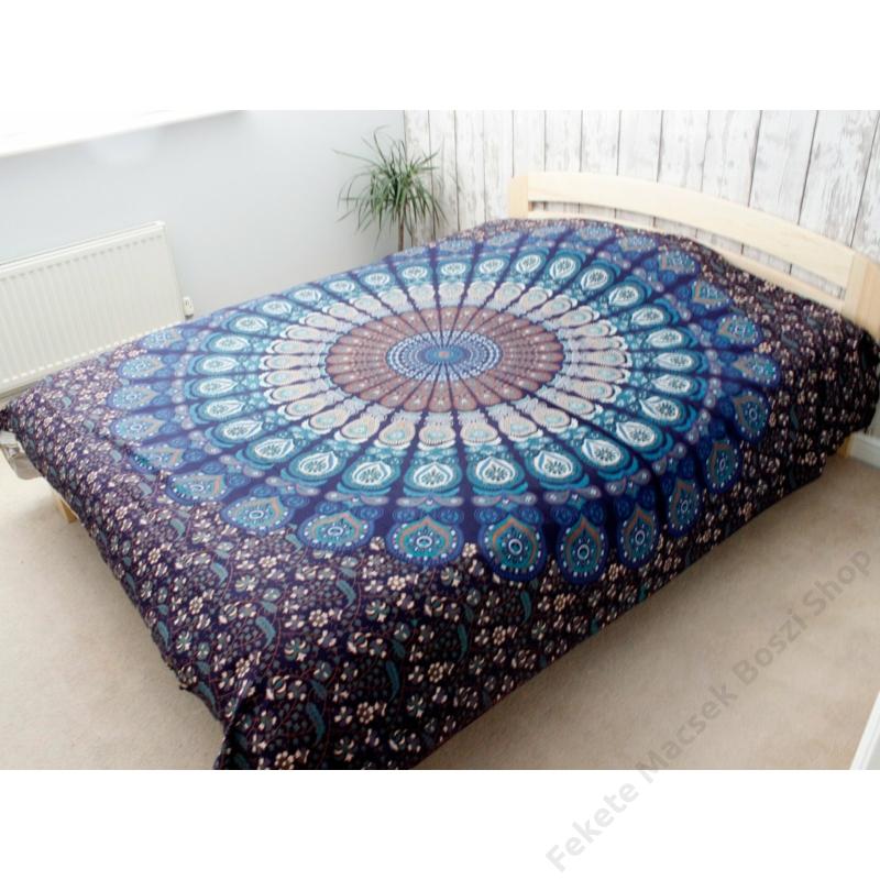 kék mandala ágytakaró