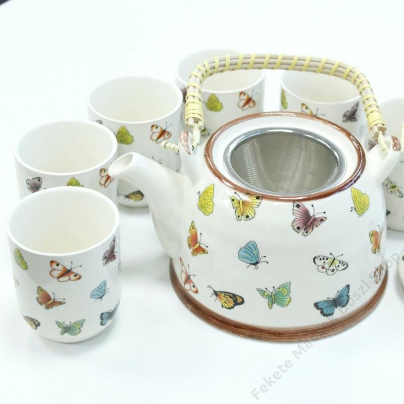 Pillangós teáskészlet