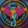 Kép 4/4 - elefántos mandala minta a pamut textilen
