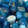 Kép 3/4 - rúna kövek szettben kék ónix ásványból