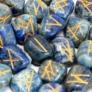 Kép 2/3 - lapisz lazuli ásványból készült rúna kövek