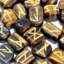 Kép 3/5 - drágakő rúna kövek tigrisszemből