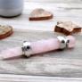 Kép 7/8 - Rózsakvarc kristály pálca ideális óvatos masszázshoz is