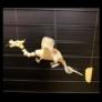 Kép 3/4 - Natúr, festés nélküli, bambuszból készült Sárkány függő
