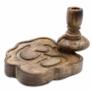 Kép 10/12 - Ohm szimbólummal díszített faragott füstölő tartó lefelé áramló füstölőhöz.