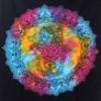 Kép 4/4 - A bohém színkavalkádos textil ideális falifüggőnek, lepedőnek, ágytakarónak is