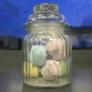 Kép 2/2 - bordázott falú konyhai üveg tároló