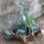 Kép 2/3 - Egyedi hangulatú, rusztikus stílusú whisky és ital szett