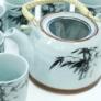 Kép 2/11 - kékes árnyalatú távol-keleti mintájú teáskészlet