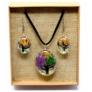 Kép 4/10 - színes virágokból készült ékszer szett